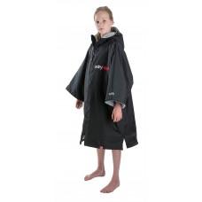 Dryrobe Advance Kids Short Sleeve Black/Grey  Age 5-9