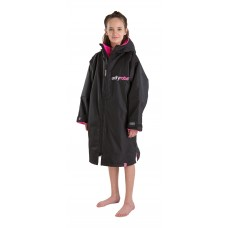 Dryrobe Advance Long Sleeve Teens Black Pink Age 10-14