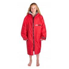 Dryrobe Advance Long Sleeve Red Grey Age 10-14